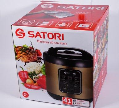 Мультиварка Satori SM-41972-5GL, 900Вт,5л,керам.покр.,скляна кришка,41 прогр.