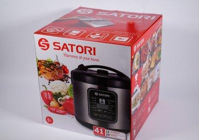 Мультиварка Satori SM-41961-5SL, 900Вт,5л,керам.покр.,41 прогр.
