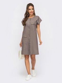Платье Dressa 53844 Фиолетовое