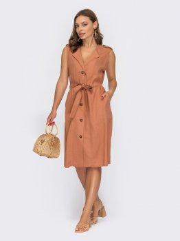 Платье Dressa 53968 Терракотовое
