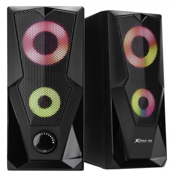 Колонки для компьютера Xtrike SK-501 BK Wired Speaker с подсветкой Black