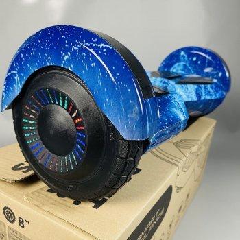 Гироборд Smart Balance 8 дюймов Синий космос АКБ Samsung 4400mAh / 800Вт Bluetooth-колонка и LED - подсветка колес с алюминиевой рамой