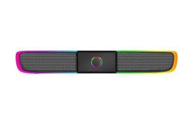 Колонка XTRIKE Backlight USB/AUX с RGB подсветкой для ПК/смартфона