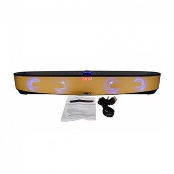 Мощная портативная акустическая стерео колонка (акустическая система) Hopestar MLL-209 Bluetooth USB FM Gold