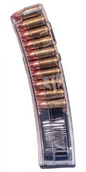 Магазин ETS для МР5 9 мм. Емкость - 20 патронов. прозрачный