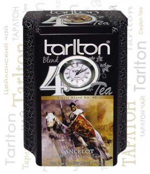 Чай чорний крупнолистовий Тарлтон OPA Lancelot 200 г в жерстяній банці з годинником