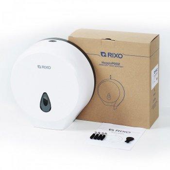 Диспенсер туалетного паперу джамбо рулонах і стандартних Rixo Maggio P002W Білий