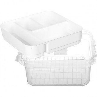Аптечка пластиковая Gondol G-610-P Органайзер Бокс для лекарств Прозрачный