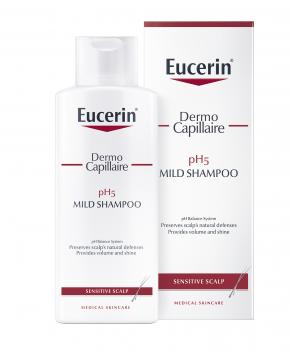 Мягкий шампунь для чувствительной кожи головы Eucerin ДермоКапилляр рН5 250 мл (4005800036736)