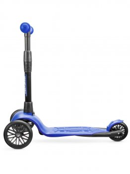 Самокат дитячий триколісний !Зухвалий Старт (чорні колеса, посилена рама, 3 роки гарантії) синій