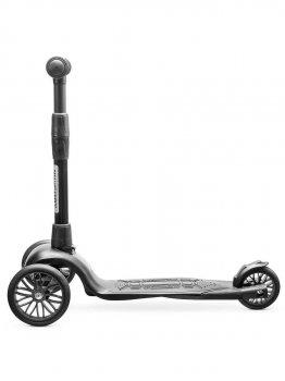 Самокат дитячий триколісний !Зухвалий Старт безшумне шасі Super-CHASSIS (до 50 кг навантаження, 3-колісний) 3 роки гарантії чорний