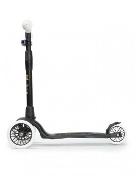 Самокат дитячий триколісний з мигалкою !Зухвалий СПЕЦНАЗ (Поліція, Пожежна, Швидка допомога) безшумне шасі Super-CHASSIS (3-колесний) 3 роки гарантії чорно-білий