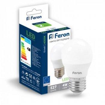 Світлодіодна лампа Feron 4W E27 4000K LB-380