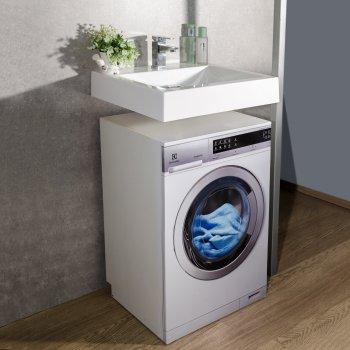 Раковина (умывальник) Fancy Marble Lily над стиральной машинкой Белый