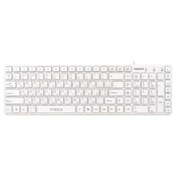 Клавіатура Vinga KB820White