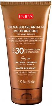Антивіковий сонцезахисний крем для обличчя, шиї та декольте Pupa Sun Care Multifunction Anti-Aging Sunscreen Cream SPF 30 50 мл (8011607331697)