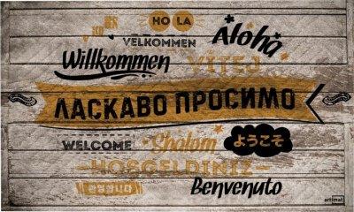 """Коврик придверный на резиновой основе Artimat """"Welcome World"""" К-602 45x75 см"""