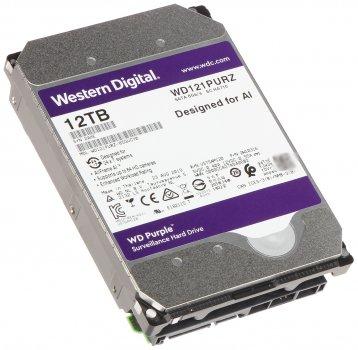 """Дисковий накопичувач внутрішній Western Digital Western Digital 3.5"""" Purple 12TB 3,5"""" SATAIII 7200 об/хв Сріблястий (WD121PURZ)"""