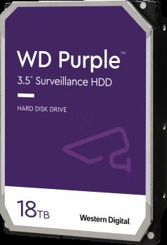 """Дисковий накопичувач внутрішній Western Digital Western Digital 3.5"""" Purple 18TB 3,5"""" SATAIII 7200 об/хв Сріблястий (WD180PURZ)"""