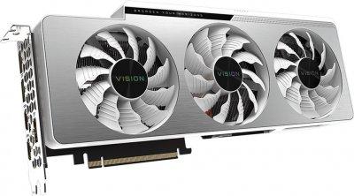 Gigabyte PCI-Ex GeForce RTX 3080 Vision OC 10GB GDDR6X (320bit) (1710/19000) (2 х HDMI, 3 x DisplayPort) LHR (GV-N3080VISION OC-10GD v2.0)