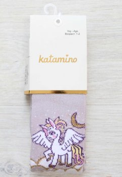 Набор детских колгот с единорогом Katamino 3 шт 98-104 / 3-4 года с единорогом