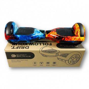 "Гироборд Smart Balance 6,5 дюймов"" PRO 2021 Лед и пламя АКБ Samsung 4400mAh / 700Вт Bluetooth-колонка и LED — подсветка колес"