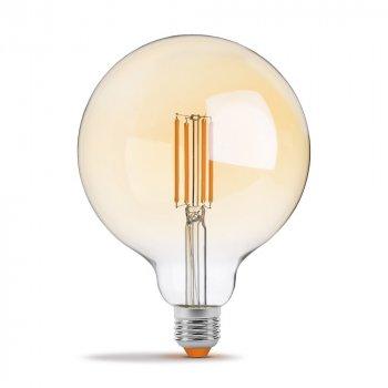 LED лампа VIDEX Filament G125FAD 7W E27 2200K дімерна бронза