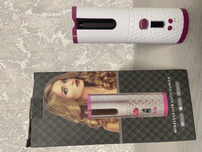Автоматическая беспроводная аккумуляторная плойка для завивки волос стайлер Hair curler (Заряжается от USB) White