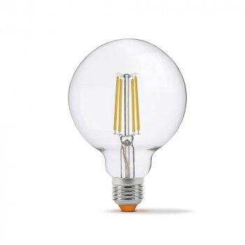 LED лампа VIDEX Filament G95FD 7W E27 4100K дімерна
