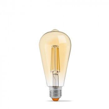 LED лампа VIDEX Filament ST64FAD 6W E27 2200K дімерна бронза
