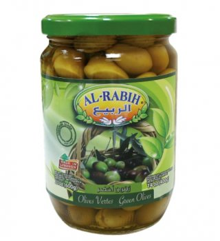 Оливки зеленые Al-Rabih с косточкой 600г