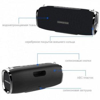 Потужна портативна bluetooth колонка Sound System A6 Pro Hopestar 35 Вт Black (00521)