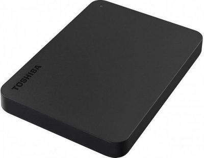 "Жесткий диск Toshiba HDD 2.5"" USB 1.0TB Canvio Basics Black + USB-C адаптер (HDTB410EK3ABH)"
