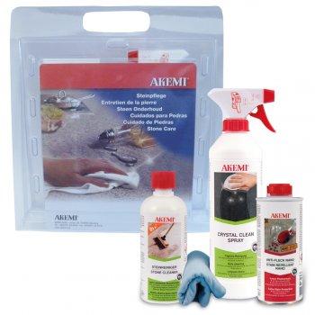 Набор для ухода за натуральным и искусственным камнем Crystal Care Set Akemi арт0005