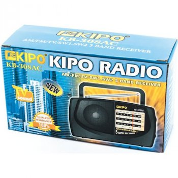 Радиоприемник 5-волновой AM/FM/SW/MW/LW КІРО 308