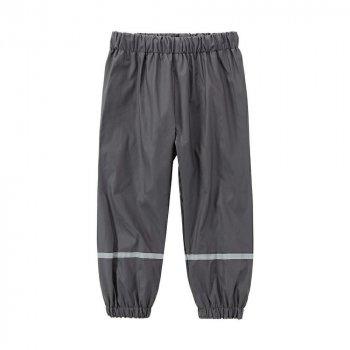 Дитячі штани для хлопчиків X-Mail Брудопруф без утеплювача Темно-сірі