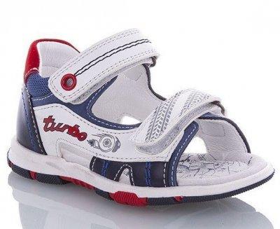 Детские босоножки для мальчика Turbo JONG-GOLF бело-сине-красные