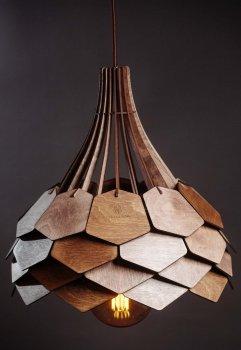 Люстра деревянная Wood Сонце L-01-11