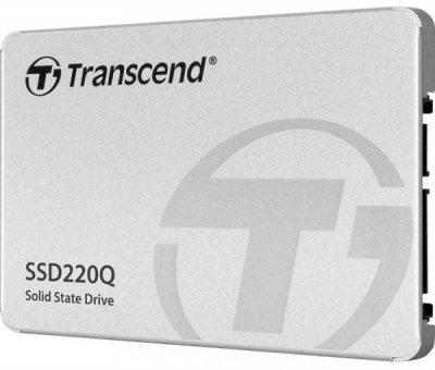 """Твердотільний диск 2.5"""" 500GB Transcend SSD220Q SATA 3, QLC NAND, 550/500 MB/s (TS500GSSD220Q)"""