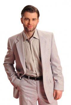 Чоловічий костюм West-Fashion 8032 сіро-бежевий 182