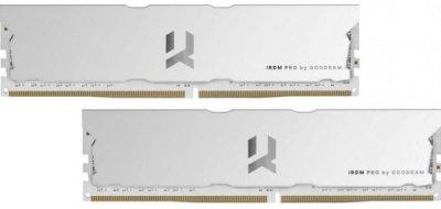 Пам'ять DDR4 RAM 16GB GOODRAM 3600MHz PC4-28800 (Kit of 2x8GB) IRDM PRO Hollow White (IRP-W3600D4V64L17S/16GDC)