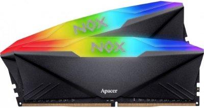 Пам'ять DDR4 RAM 16GB Apacer 3200MHz PC4-25600 (Kit of 2x8GB) NOX RGB (AH4U16G32C08YNBAA-2)