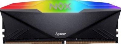 Пам'ять DDR4 RAM 8GB Apacer 3200MHz PC4-25600 NOX RGB (AH4U08G32C08YNBAA-1)