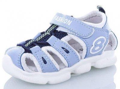 Спортивные детские босоножки для мальчика Sport Fashion JONG-GOLF голубой-белый-синий