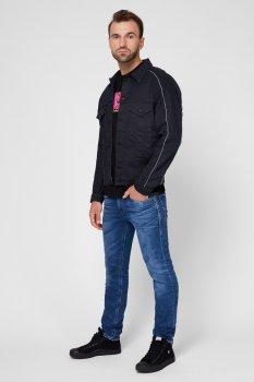 Чоловіча темно-синя джинсова куртка A01092 0KAYO Diesel A01092 0KAYO