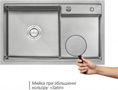Кухонна мийка QTAP D7848-L Satin 3.0/1.2 мм (QTD7848L3012)