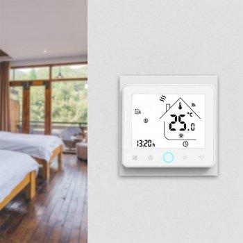 Розумний кімнатний ZigBee термостат для газових і електричних котлів Tervix, з датчиком температури повітря
