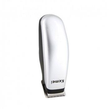 Машинка для стрижки волосся і бороди бездротова Kemei KM-9612 2в1 Срібляста