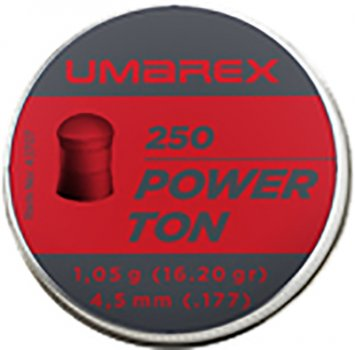 Свинцовые пули Umarex Power Ton 1.05 г калибр 4.5 (.177) 250 шт (4.1707)