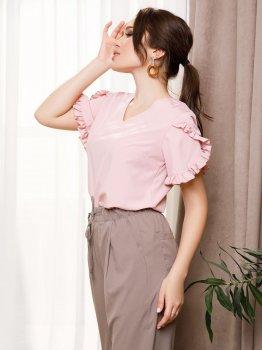 Блузка ISSA PLUS SA-230 Розовая